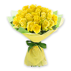 Bouquet of yellow roses (80 cm.) to Chernivtsi