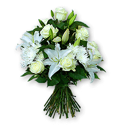 Bouquet of roses, lilies and chrysanthemums to Chernivtsi